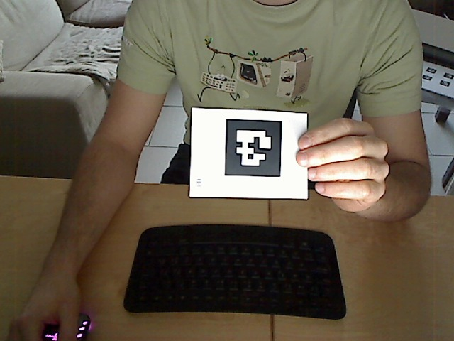 Show the printed tag to the webcam